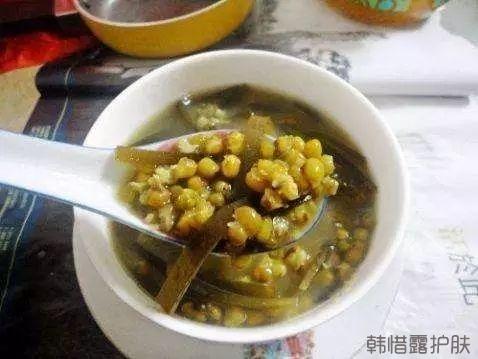 祛痘美食:海带生地绿豆瘦肉汤